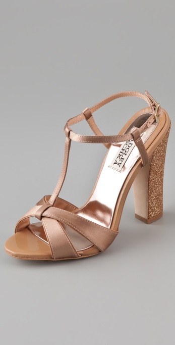 Badgley Mischka Jenie T Strap Sandals