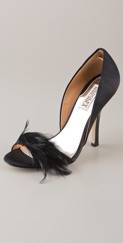 Badgley Mischka Gisella Feather Pumps