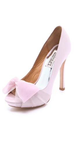 Badgley Mischka Zali Sandals with Chiffon Bow