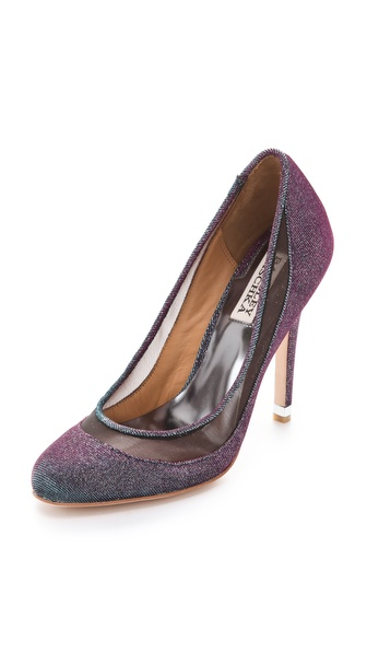 Badgley Mischka Myria Sparkle Mesh Pumps