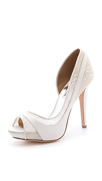Badgley Mischka Nora Lace Pumps