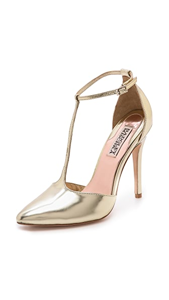 Badgley Mischka Pila II T Strap Pumps