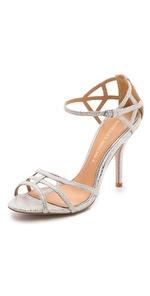 badgley mischka kerrington metallic sandals