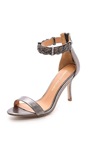 Badgley Mischka Hawthorne Braided Ankle Strap Sandals