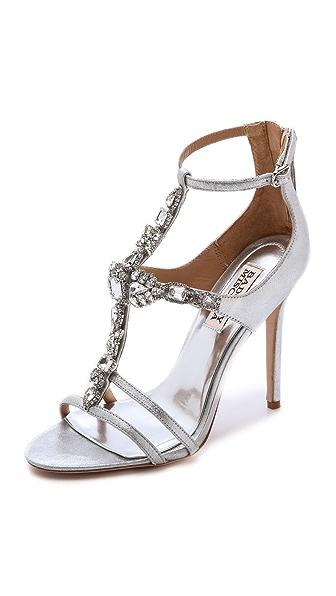 Giovana T Strap Sandals (Silver)