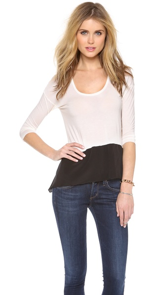 Bailey44 V Neck Hi Lo Tee