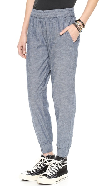 Baldwin Denim The Malibu Beach Trousers - Blue Chambray at Shopbop / East Dane