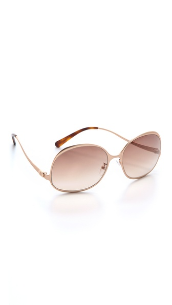 Balenciaga Bottom Temple Metal Sunglasses