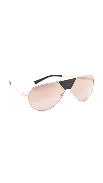 Balmain Studio Gradient Aviator Sunglasses