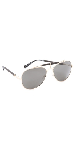 Balmain Studio Aviator Sunglasses