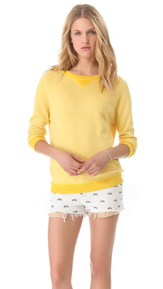 Banjo & Matilda Neon Sloppy Jojo Cashmere Pullover