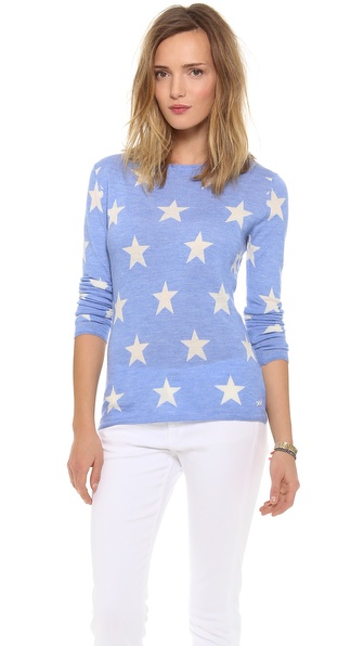Banjo & Matilda Star Cashmere Sweater - Periwinkle/Ivory at Shopbop / East Dane