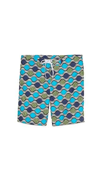 Bantu Wavy Long Board Shorts