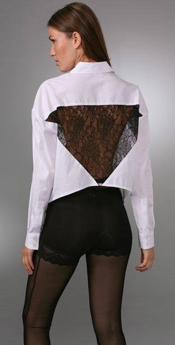 BARLOW Lace Back Shirt