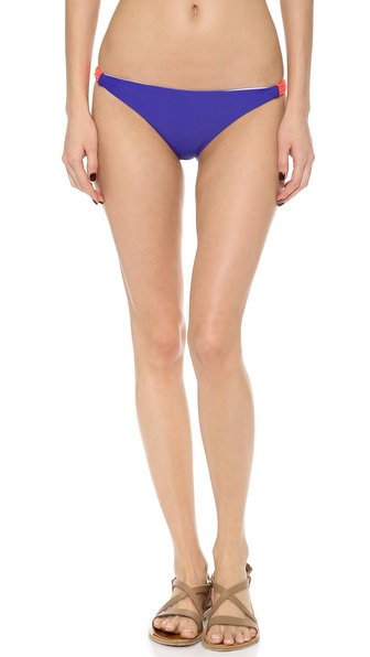 Basta Surf Zunzal Reversible Bikini Bottoms - Babe Blue/Blue Stripe at Shopbop / East Dane