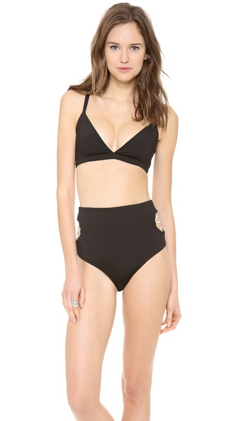 Basta Surf Calita Reversible Bikini Top - Noir/Freeze at Shopbop / East Dane