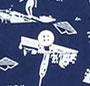 Navy Custom Print