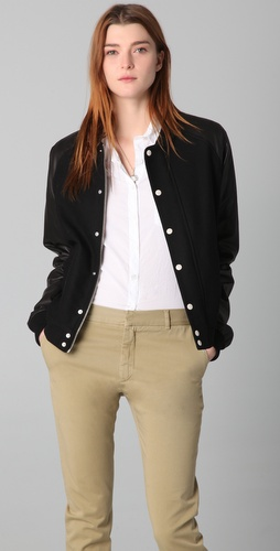 Boy. by Band of Outsiders Varsity Leather Jacket