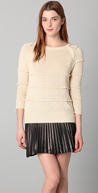 Band of Outsiders Ribbed Stripe Sweater