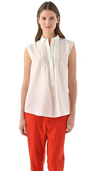 Band of Outsiders Pintuck Sleeveless Top