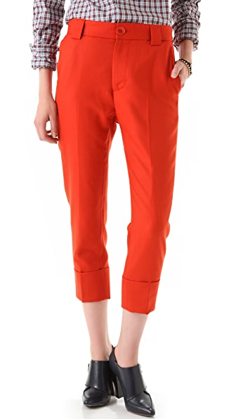 Band of Outsiders Capri Cuffed Trousers