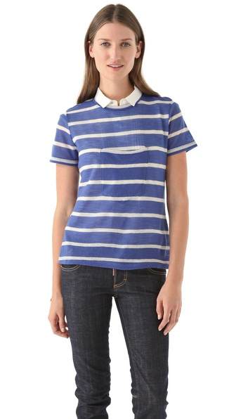 Band of Outsiders Center Pocket Tee