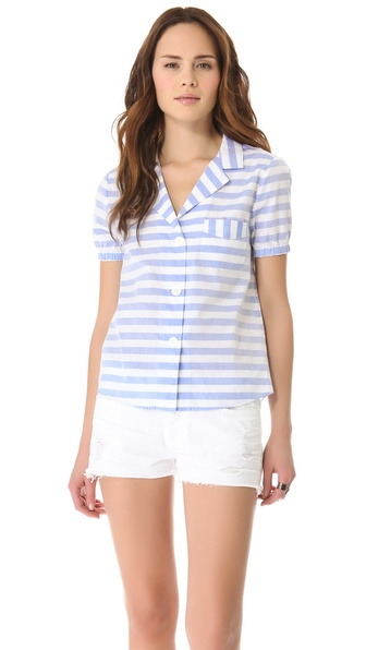 Boy. by Band of Outsiders Awning Stripe Shirt