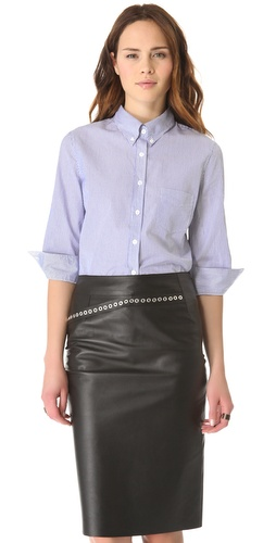 Band of Outsiders Delphi Crop Sleeve Shirt
