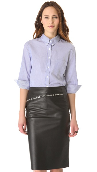 Boy. by Band of Outsiders Delphi Crop Sleeve Shirt