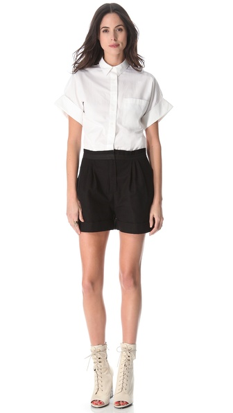Boy. by Band of Outsiders Poplin & Canvas Romper