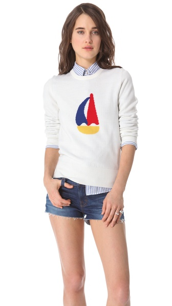 Boy. by Band of Outsiders Sailboat Intarsia Sweater