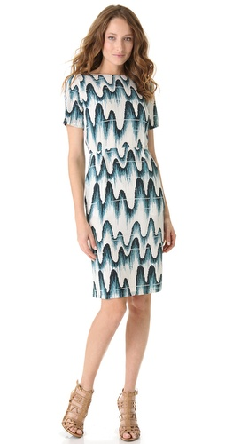 Band of Outsiders Wave Print Dress