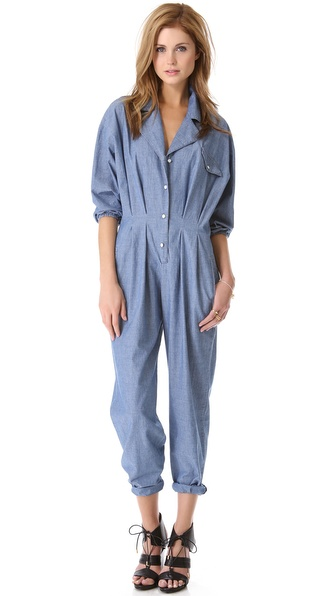 Band of Outsiders Jumpsuit with Collar