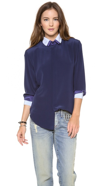 Band of Outsiders Double Collar Boyfriend Shirt