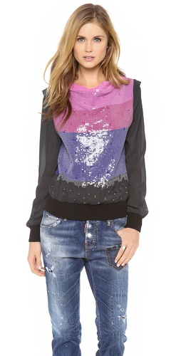 Band of Outsiders Sequined Top
