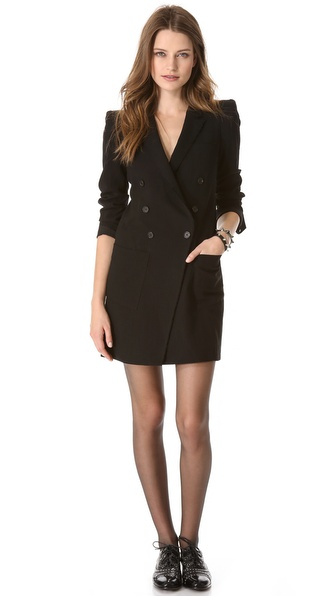 Band of Outsiders Peak Shoulder Blazer Dress