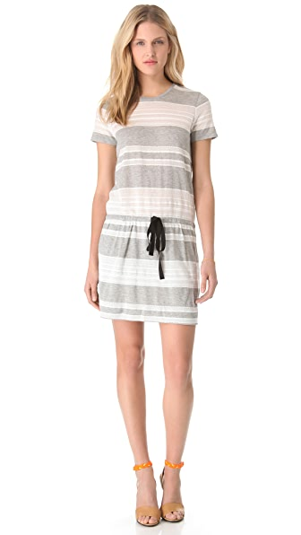 Band of Outsiders Lace T-Shirt Dress