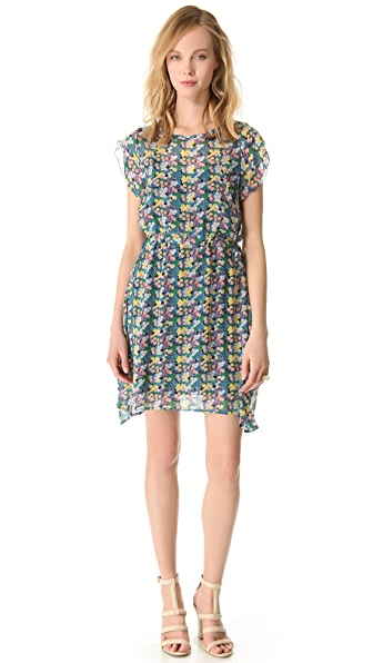 Band of Outsiders Mini Blossom Crinkle Dress