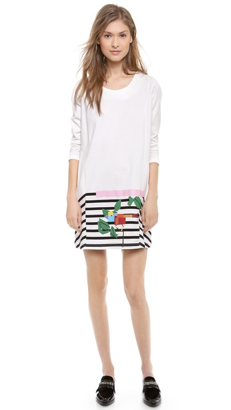 Band of Outsiders Bracelet Sleeve Print Dress