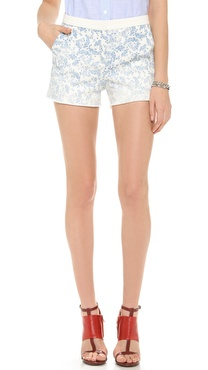 Band of Outsiders Flower Degrade Cutoff Shorts