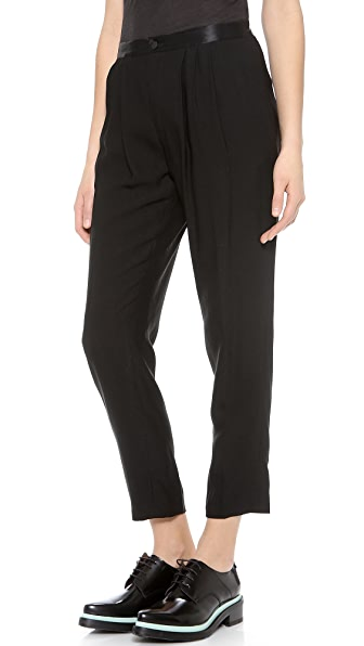 Band of Outsiders Ami Satin Waistband Pants