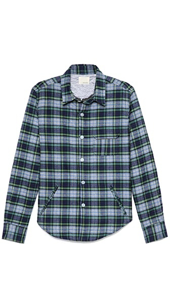 Band of Outsiders Quilted Shirt Jacket