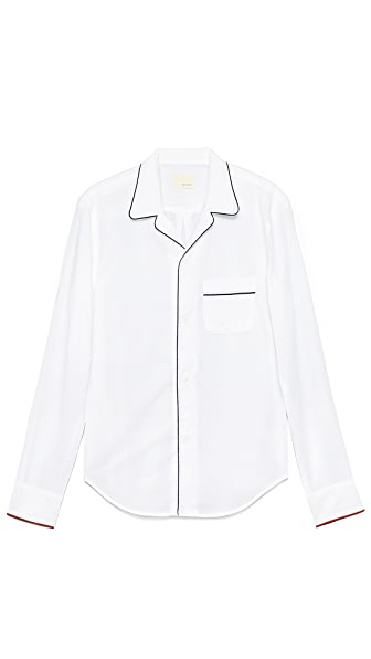 Band of Outsiders Piped PJ Shirt