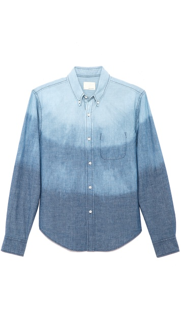 Band of Outsiders Trapped Pocket Sport Shirt