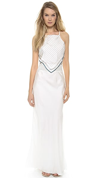 Band of Outsiders Bandana Print Cutout Maxi Dress