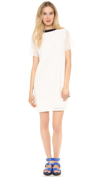 Band of Outsiders Silk Twill & Lace Dress