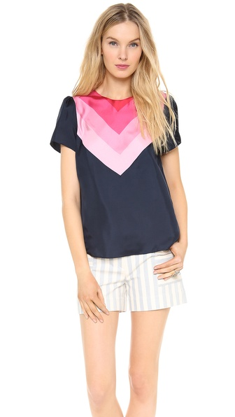 Band of Outsiders Scarf Print Top