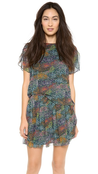Band of Outsiders Flower Field Split Sleeve Top