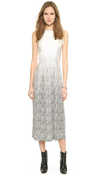 Shop Band of Outsiders online and buy Band Of Outsiders Degrade Leopard Maxi Dress Ivory Multi online store