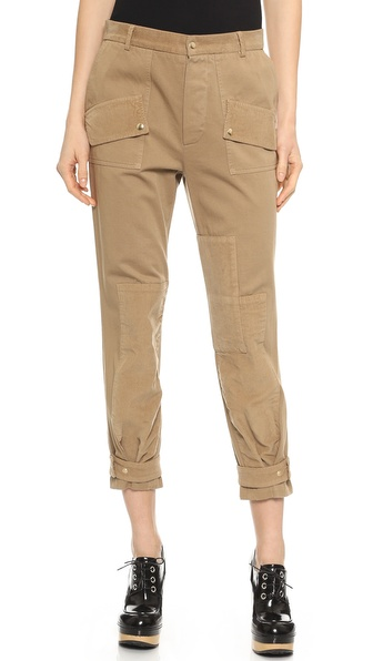 Band of Outsiders Corduroy Patch Slouchy Chino Pants